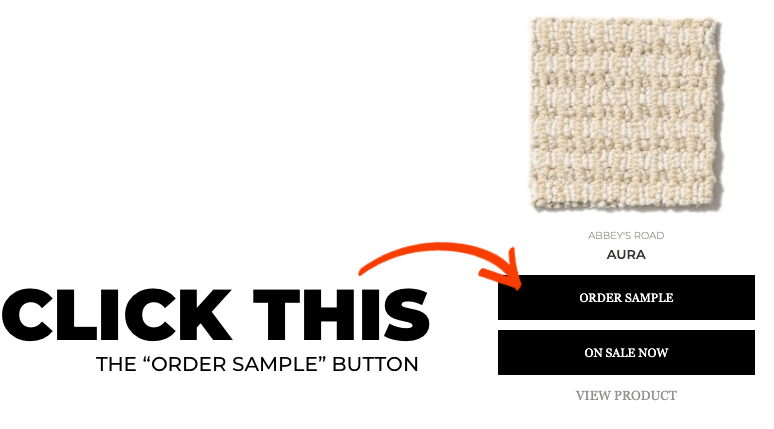 Order sample button | Roberts Carpet & Fine Floors