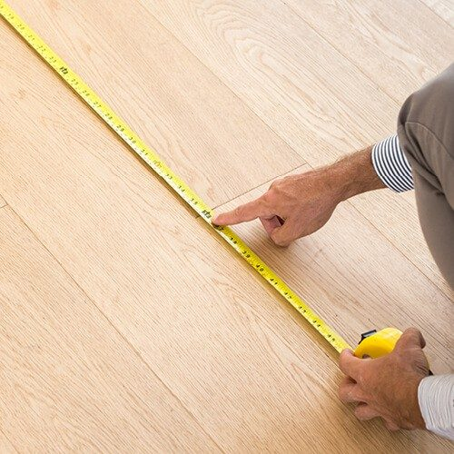 Floor measurement in The Woodlands, TX | Roberts Carpet & Fine Floors