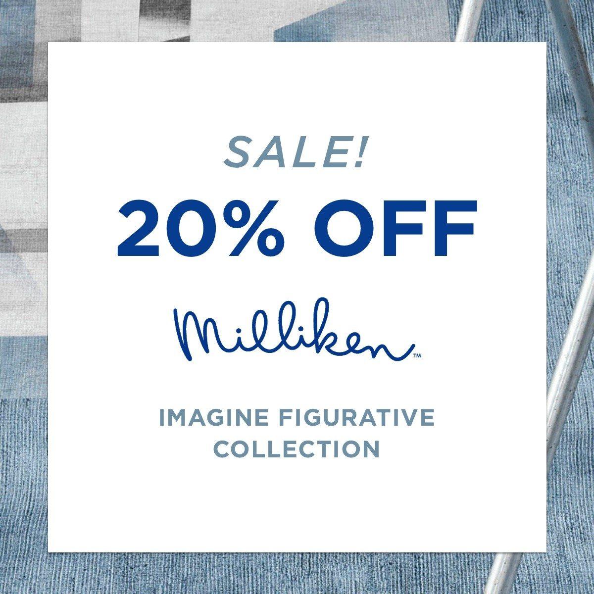 Sale! 20% off Milliken - Imagine figurative collection