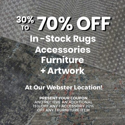 30 to 70% off rug sale